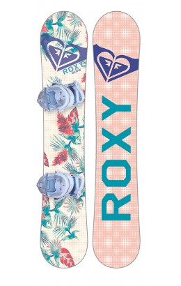 ROXY Glow Package Board & Binding 142 FLT 18/19